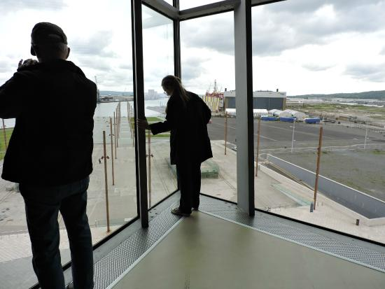 Susie Millar - Titanic Tours Belfast : Inside looking down from Titanic Belfast Museum