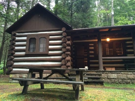 Watoga State Park: Cabin exterior