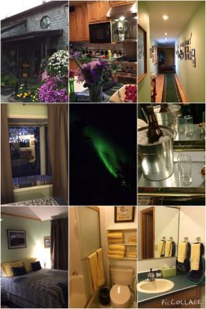 Alaska House of Jade Bed and Breakfast : We saw the Northernlights from our room window!