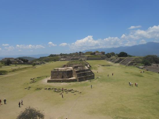 Monte Alban: View of the ruins