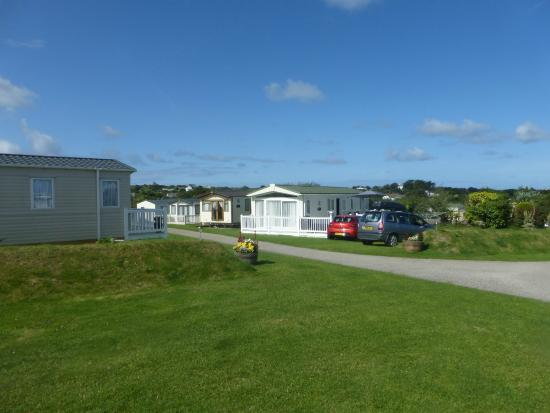 Treworgans Holiday Park: view from our caravan