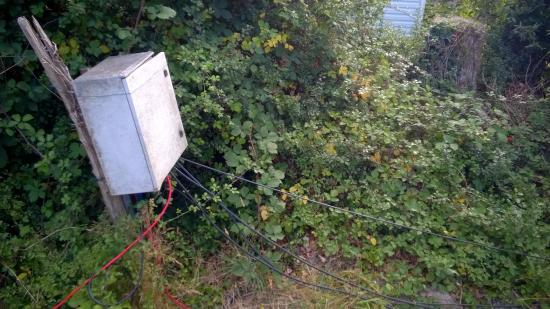 Penestin, France: Compteur electrique de notre emplacement