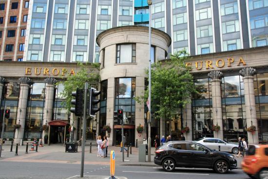 Europa Hotel Belfast Menu