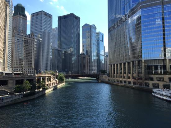 View of chicago river picture of renaissance chicago for All hotels downtown chicago