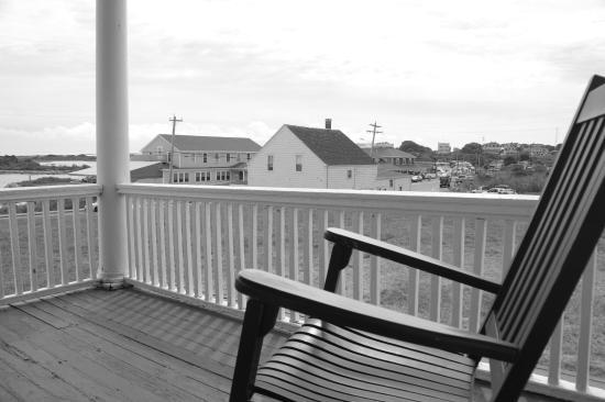 Narragansett Inn: View from the porch of the main inn