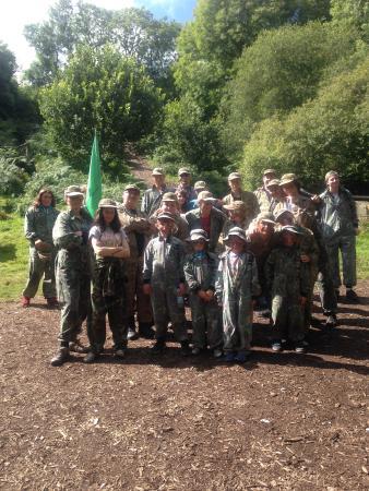 Battlefield Live Pembrokeshire Laser Combat: The whole group.
