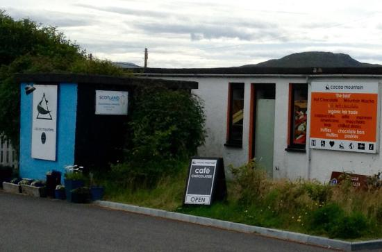 Cocoa Mountain Balnakeil: The coffee shop sign