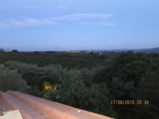 Le Caiole: vista terrazza appartamento Fico