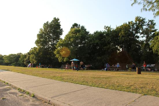 Kings Park, NY: Picnic Anywhere, even along parking lot !