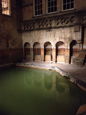 Pulteney House: The Roman Baths by night