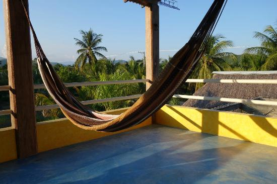 Hammocks outside your room at Posada Blanca - Barra de la Cruz