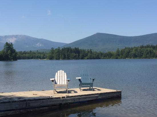 Katahdin Lake Wilderness Camps: Our own little swimming pool at the lake