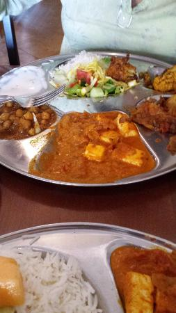 Indian Cuisine By The Lake Lunch Veg Thali