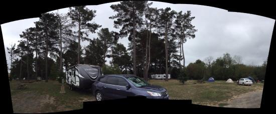 Olema Campground: Our campsite