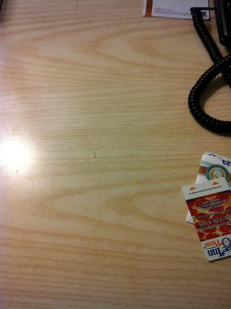 Quality Inn & Suites Romulus: nail clipping on the desk