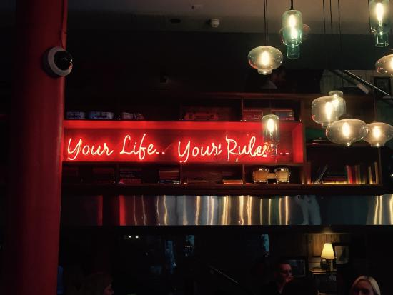 Great sign - Picture of Scarlet's, London - TripAdvisor