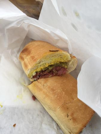 Yellow Submarine: The pastrami was amazing!!! Just the right amount of mustard and pickles.