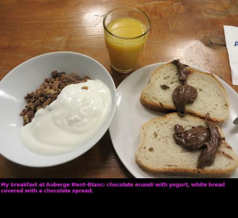 Auberge Mont-Blanc Trient : My breakfast
