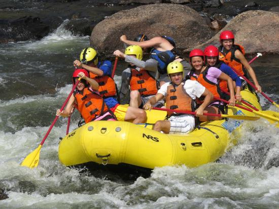 Laporte, CO: Rafting is a Team Sport, everyone has to paddle some time