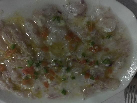 Capricorn Praslin: Antipasto di pesce crudo al lime