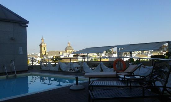 Pool Picture Of Sevilla Center Hotel Seville Tripadvisor