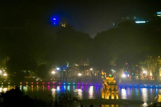 Hanoi A1 Hotel: Вид из номера на приближении зумом