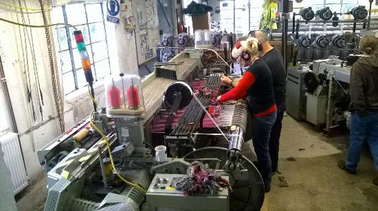 Melin Tregwynt Woolen Mill: Weavers at work