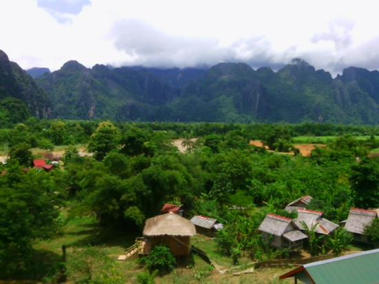View from the Nam Song guesthouse dining room. - Picture of Nam Song ...