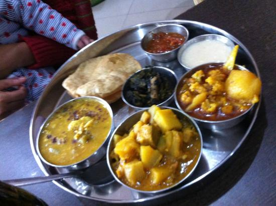 Maachh Bhaat: Veg Thali