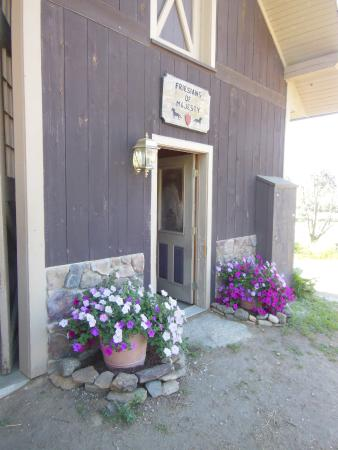 Townshend, Vermont: The entrance to the stable at Friesians of Majesty