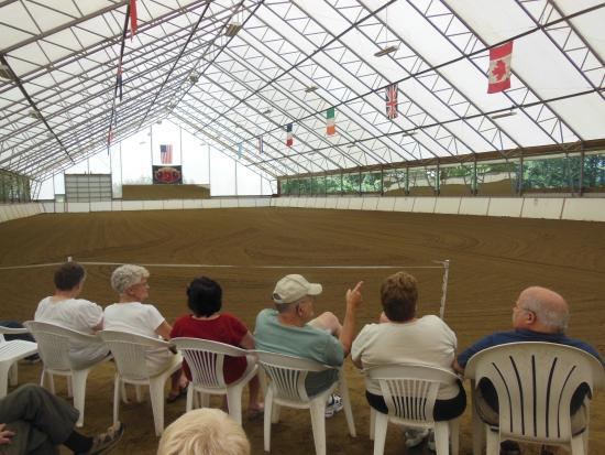 Townshend, VT: The open air show arena at Friesians of Majesty