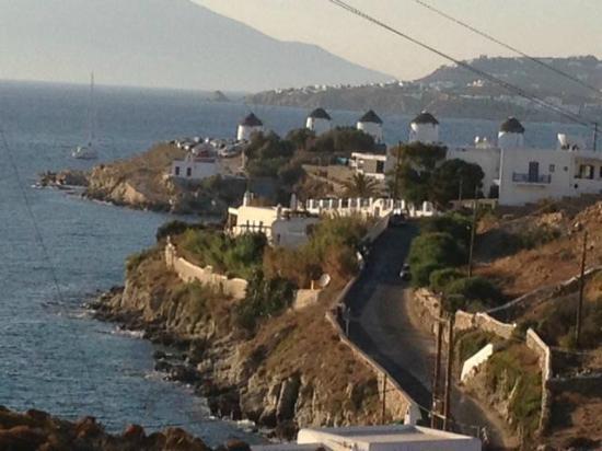 Villa Margarita Mykonos: Vue de Mykonos depuis la Villa Margarita