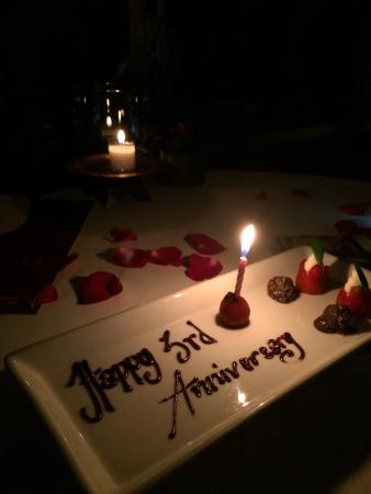 Third Wedding Anniversary.Our 3rd Wedding Anniversary Emailed To Make Reservation And Has