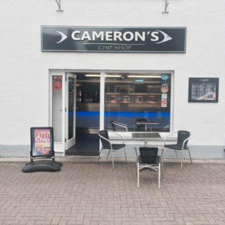 Camerons Chip Shop: Cameron's 33 Point St Stornoway