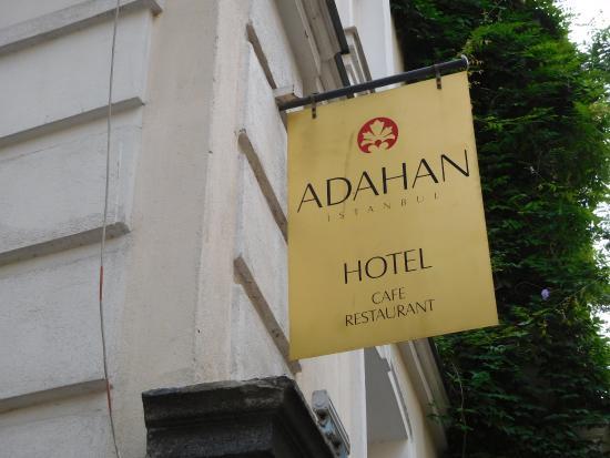 Adahan Istanbul: Hotel Sign