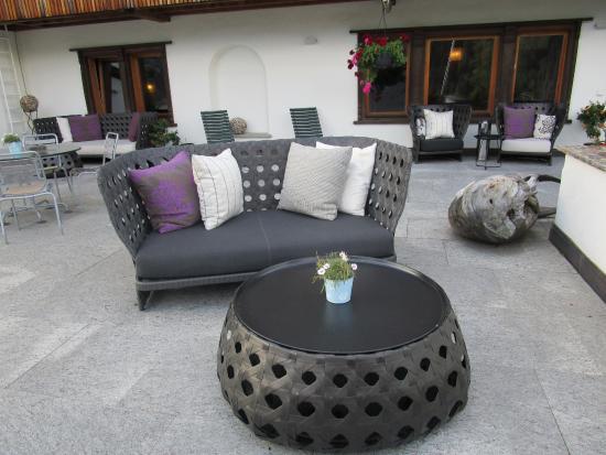 Romantik Boutique Hotel Guardaval: Terrasse