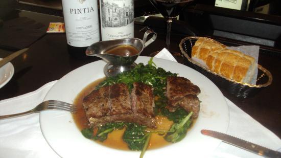 Evo Bistro: My Steak  and wine