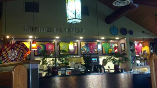 Kaleidoscope Pizzeria Pub Tee Shirt Display