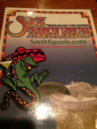 San Miguel's Mexican Cafe : Menu