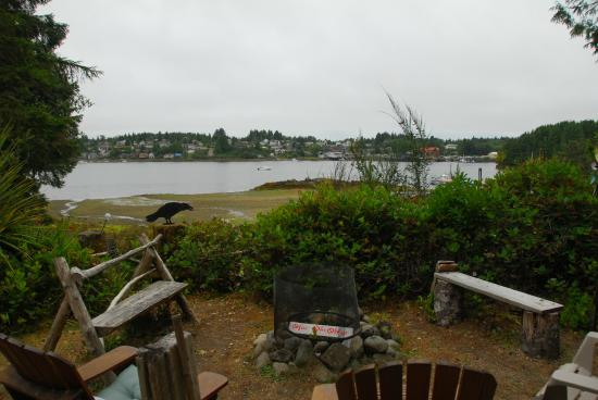 A Harbour House: Ucluelet from the garden