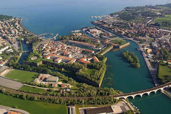 Peschiera del Garda, Italy: the town of peschiera