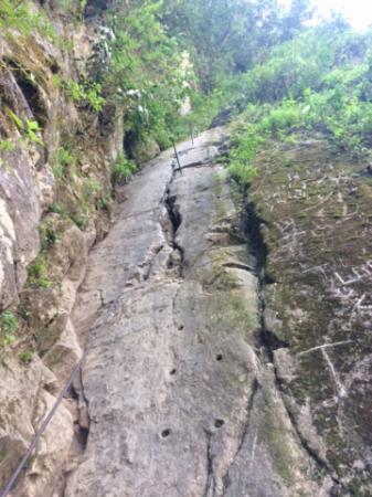 Aguas Calientes, Peru: Tramo sin escaleras