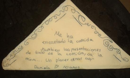 Restaurante La Mina: Muchas gracias
