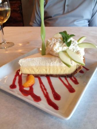 Fabulous key lime pie at The Pharmacy!