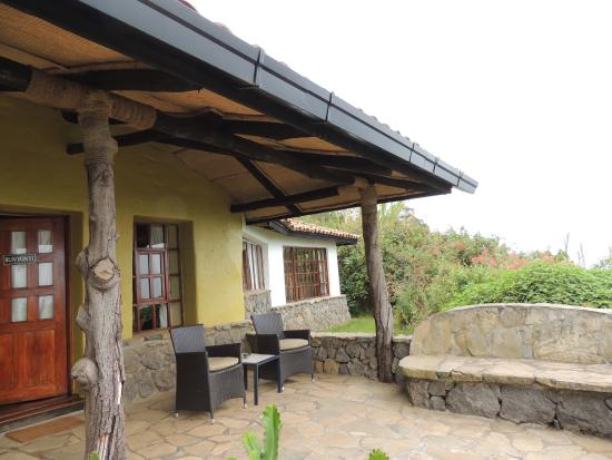 Virunga Lodge: our cottage