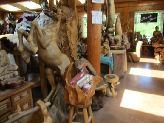 Wood carving shop picture of the old country market