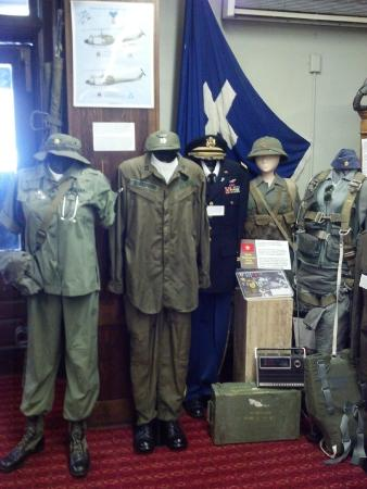 Some of the uniforms in the Vietnam War display  - Picture of The