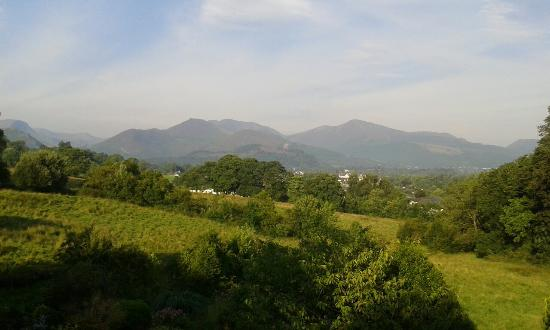 The Lookout Keswick : view from room one - the night of a thunder storm and the beautiful morning that followed