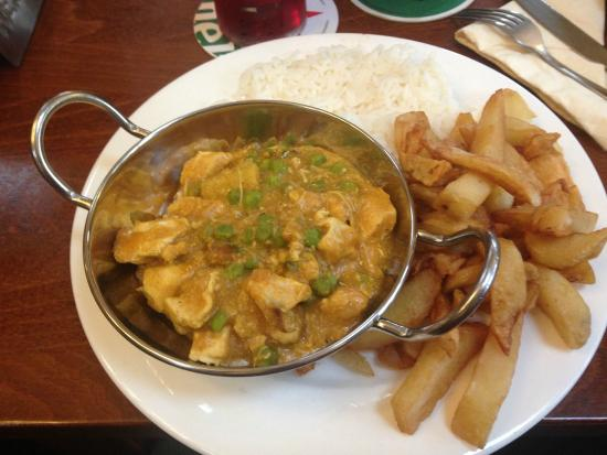 The Ship: Chicken Curry with half and half