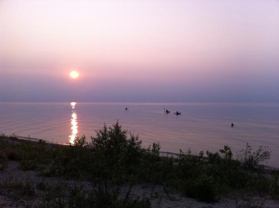 Carp Lake, MI: Kayaking at sunset - simply divine